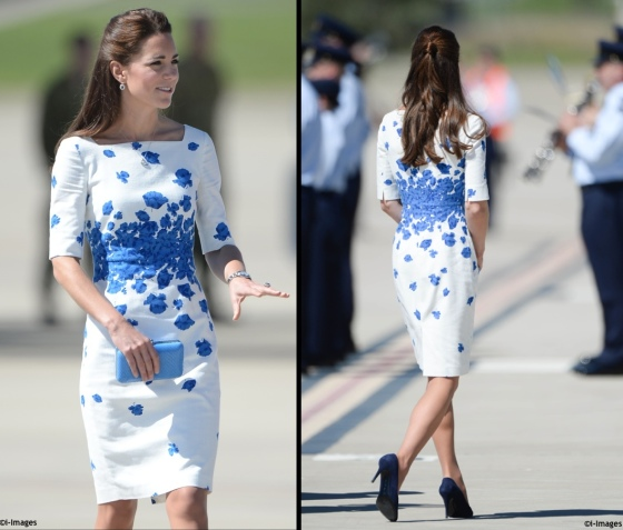 OZ-Tour-2014-Kate-LK-Bennett-Snorkel-Blue-Lasa-Poppy-Dress-Ambley-Air-Force-Base-